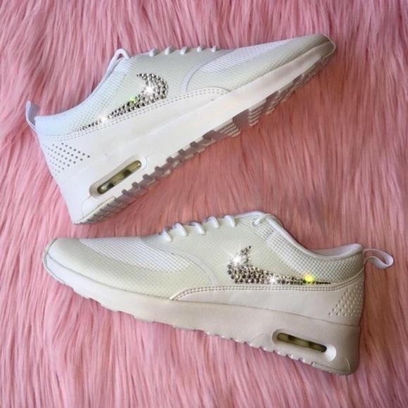 2a585b1b6 Bling Nike Air Max Thea Shoes w  Swarovski Crystal
